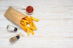 Τηγανισμένες πατάτες με τη διαστημική περιοχή αντιγράφων Στοκ φωτογραφία με δικαίωμα ελεύθερης χρήσης