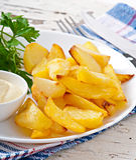 τηγανισμένες σφήνες πατατών Στοκ Εικόνα