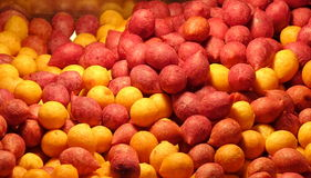 Τηγανισμένες σφαίρες γλυκών πατατών Στοκ φωτογραφία με δικαίωμα ελεύθερης χρήσης