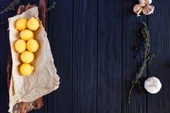 Τηγανισμένες σφαίρες τυριών στις τριμμένες φρυγανιές με το σκόρδο, τα χορτάρια και τα καρυκεύματα Στοκ φωτογραφία με δικαίωμα ελεύθερης χρήσης