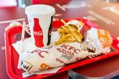 Τηγανισμένες το Κεντάκυ επιλογές εστιατορίων κοτόπουλου στοκ φωτογραφία
