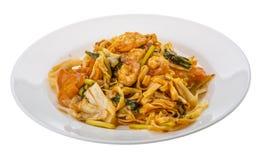 τηγανισμένες noodles γαρίδες Στοκ φωτογραφία με δικαίωμα ελεύθερης χρήσης