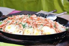 Τηγανισμένη γαρίδα αυγών ρυζιού Στοκ Εικόνες