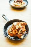 Τηγανισμένη γαρίδα με το σκόρδο Στοκ φωτογραφίες με δικαίωμα ελεύθερης χρήσης
