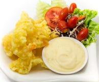 Τηγανισμένη γαρίδες σαλάτα Στοκ φωτογραφίες με δικαίωμα ελεύθερης χρήσης