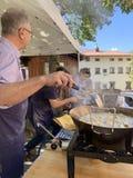 Τηγανισμένη γιορτή μανιταριών σε Cutigliano Cutigliano, Τοσκάνη, Ιταλία, στις 14 Οκτωβρίου 2018 στοκ φωτογραφία με δικαίωμα ελεύθερης χρήσης