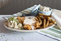 Τηγανισμένη κοτόπουλο μπριζόλα Στοκ φωτογραφία με δικαίωμα ελεύθερης χρήσης