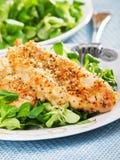 τηγανισμένη κοτόπουλο σ&alph στοκ εικόνες με δικαίωμα ελεύθερης χρήσης