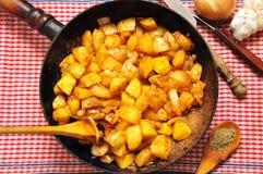 τηγανισμένη πατάτα Στοκ Φωτογραφίες
