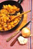 τηγανισμένη πατάτα Στοκ φωτογραφία με δικαίωμα ελεύθερης χρήσης