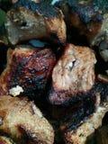 Τηγανισμένη σύσταση κρέατος Στοκ φωτογραφία με δικαίωμα ελεύθερης χρήσης