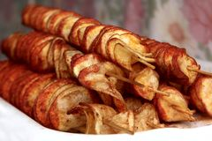 τηγανισμένη τσιπ πατάτα στοκ εικόνες