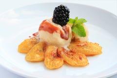τηγανισμένος κρέμα πάγος μ&pi Στοκ εικόνα με δικαίωμα ελεύθερης χρήσης