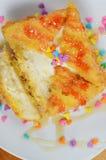 τηγανισμένος κρέμα πάγος Στοκ φωτογραφία με δικαίωμα ελεύθερης χρήσης