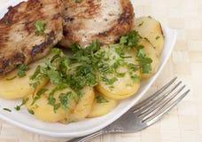 Τηγανισμένος escalope του χοιρινού κρέατος Στοκ φωτογραφίες με δικαίωμα ελεύθερης χρήσης