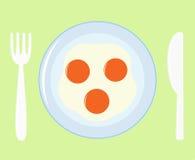 τηγανισμένο αυγά εικονίδ&i Στοκ Εικόνα