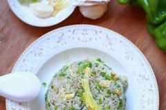 τηγανισμένο αυγό ρύζι Στοκ εικόνες με δικαίωμα ελεύθερης χρήσης