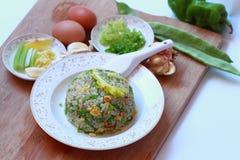 τηγανισμένο αυγό ρύζι Στοκ εικόνα με δικαίωμα ελεύθερης χρήσης