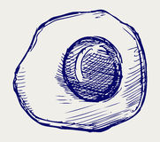 Τηγανισμένο αυγό. Ύφος Doodle Στοκ Φωτογραφίες