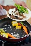 τηγανισμένο λαχανικό Στοκ Φωτογραφία