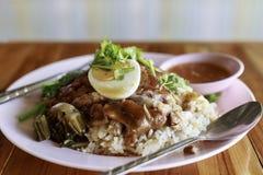 Τηγανισμένο γαρίδα-κόλλα ρύζι Στοκ Εικόνες