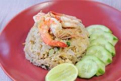 Τηγανισμένο γαρίδες ρύζι, τρόφιμα Στοκ εικόνες με δικαίωμα ελεύθερης χρήσης
