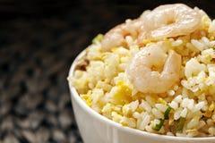 Τηγανισμένο γαρίδες ταϊβανικό ύφος ρυζιού Στοκ Εικόνα