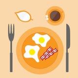 Τηγανισμένο εικονίδιο αυγών Στοκ εικόνα με δικαίωμα ελεύθερης χρήσης