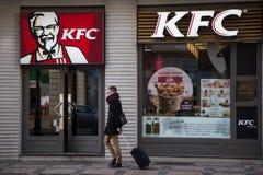 Τηγανισμένο εστιατόριο γρήγορου φαγητού κοτόπουλου της KFC το Κεντάκυ στοκ εικόνες