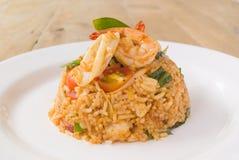 Τηγανισμένο θαλασσινά ρύζι διοσκορέων του Tom Στοκ εικόνα με δικαίωμα ελεύθερης χρήσης