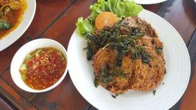Τηγανισμένο κέικ ψαριών, ταϊλανδικό παραδοσιακό Appitizer Στοκ φωτογραφίες με δικαίωμα ελεύθερης χρήσης