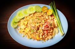 τηγανισμένο καβούρι ρύζι κρέατος Στοκ Εικόνες
