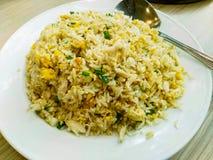 τηγανισμένο καβούρι ρύζι κρέατος Στοκ Φωτογραφίες