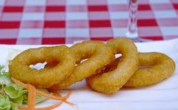τηγανισμένο καλαμάρι Στοκ Εικόνα