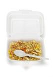 τηγανισμένο κιβώτιο styrofoam ρυ&zeta Στοκ φωτογραφία με δικαίωμα ελεύθερης χρήσης