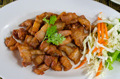 τηγανισμένο κοιλιά χοιρινό κρέας Στοκ εικόνα με δικαίωμα ελεύθερης χρήσης