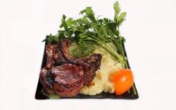 Τηγανισμένο κομμάτι του χοιρινού κρέατος Στοκ Φωτογραφία