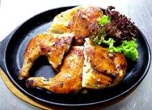 Τηγανισμένο κοτόπουλο καπνών στοκ εικόνα με δικαίωμα ελεύθερης χρήσης