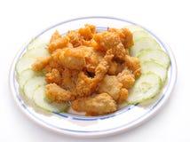 τηγανισμένο κοτόπουλο ψή&g στοκ εικόνα