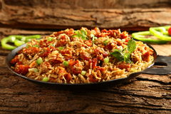 Τηγανισμένο κοτόπουλο ρύζι Delecious Στοκ Εικόνα