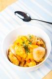 Τηγανισμένο κοτόπουλο στη σάλτσα ντοματών μάγκο Στοκ φωτογραφία με δικαίωμα ελεύθερης χρήσης
