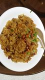 Τηγανισμένο κολλώδες ρύζι με το κινεζικό ύφος Στοκ φωτογραφία με δικαίωμα ελεύθερης χρήσης