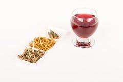 Τηγανισμένο κρασί γυαλιού εντόμων ακρίδων molitors γρύλων Στοκ φωτογραφίες με δικαίωμα ελεύθερης χρήσης