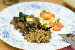 τηγανισμένο μανιτάρι μορχέλλης Στοκ εικόνες με δικαίωμα ελεύθερης χρήσης