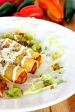 Τηγανισμένο μεξικάνικο Taco Στοκ Φωτογραφία