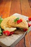 Τηγανισμένο πασπαλισμένο με ψίχουλα μοσχαρίσιο κρέας Milanese στοκ εικόνα με δικαίωμα ελεύθερης χρήσης