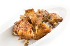 Τηγανισμένο πράξη κοτόπουλο Στοκ εικόνα με δικαίωμα ελεύθερης χρήσης