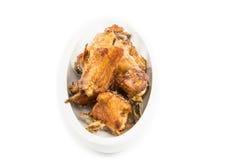 Τηγανισμένο πράξη κοτόπουλο Στοκ εικόνες με δικαίωμα ελεύθερης χρήσης