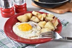 τηγανισμένο πρόγευμα αυγών Στοκ φωτογραφία με δικαίωμα ελεύθερης χρήσης