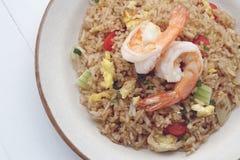 τηγανισμένο ρύζι γαρίδων Στοκ εικόνα με δικαίωμα ελεύθερης χρήσης